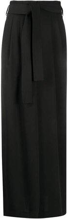 waist-tied maxi skirt