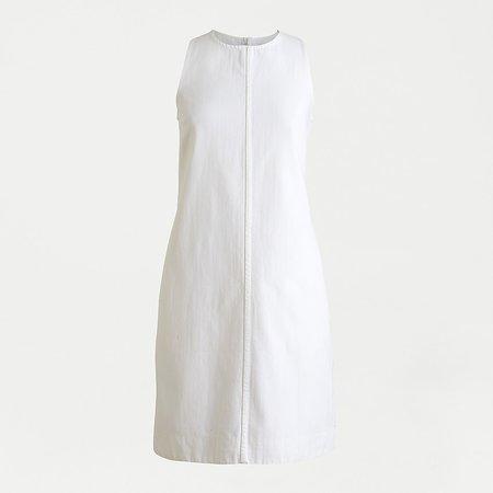 J.Crew: Denim Shift Dress In White For Women