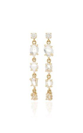 ARK Herkimer 18K Gold Diamond Earrings