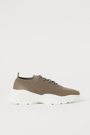 Fully-fashioned Sneakers - Beige
