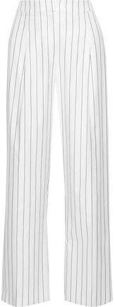 Aster Pinstriped Cotton-blend Twill Wide-leg Pants