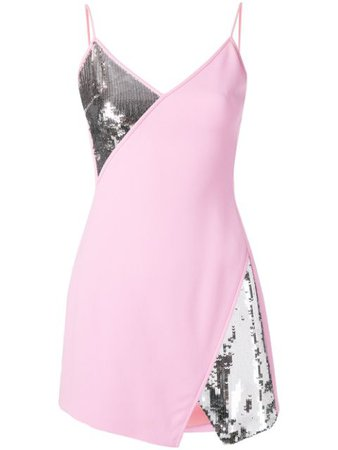 David Koma sequin panels mini dress