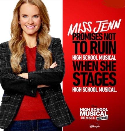 hsmtmts Miss jenn east high hsm high school musical the musical the series teachers