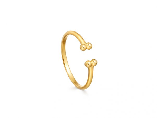 Gold Open Beaded Cuff Ring | 18ct Gold Vermeil | Missoma