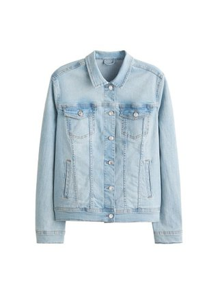 Violeta BY MANGO Vintage light wash denim jacket