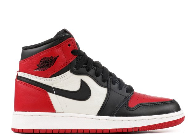 "Air Jordan 1 Retro High Og Bg (gs) ""Bred Toe"" - Air Jordan - 575441 610 - gym red/black-summit white 
