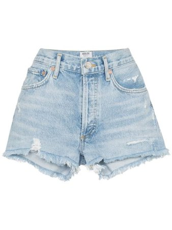AGOLDE distressed denim shorts