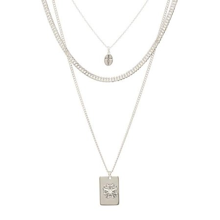 The Fleur Dog Tag Necklace- Silver | Luv Aj