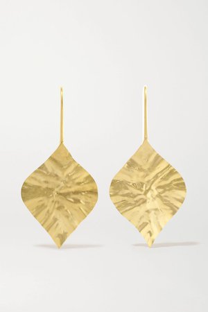 Gold 18-karat gold earrings | Pippa Small | NET-A-PORTER