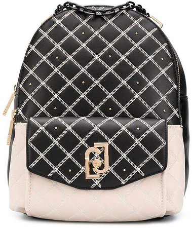 Logo-Plaque Quilted Backpack