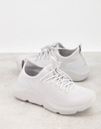 ASOS DESIGN Dewi knit sneakers in gray | ASOS