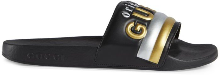 Pursuit Original Logo Slide Sandals