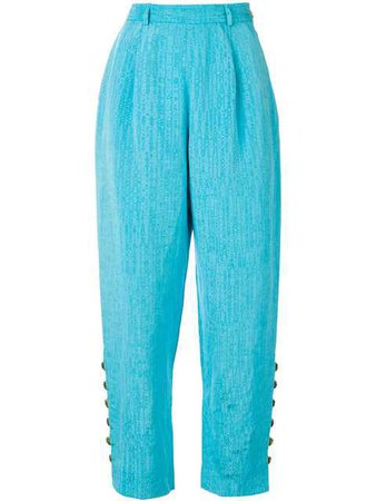 Yves Saint Laurent Vintage Side Buttoned Trousers $323 - Buy VINTAGE Online - Fast Global Delivery, Price
