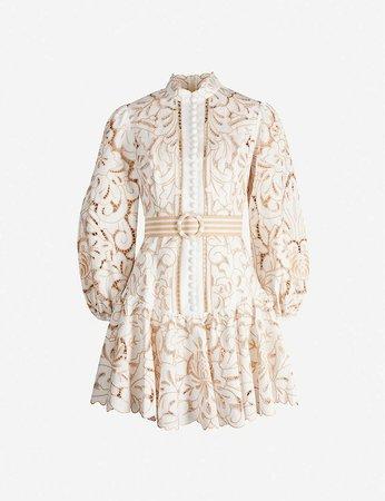 ZIMMERMANN - Edie floral lace mini dress | Selfridges.com