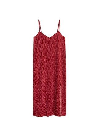 MANGO Printed textured dress