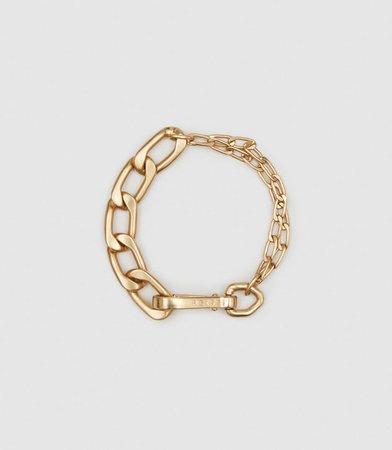 Ellena Gold Brushed Gold Plated Chain Bracelet – REISS