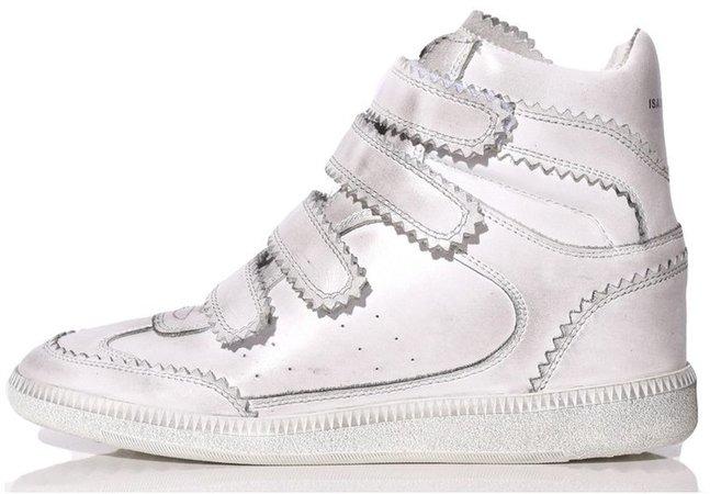 Bilsy Sneaker in White/Silver