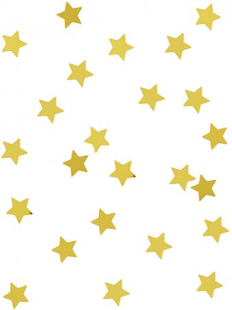 Gold metallic star confetti: Decorations,and fancy dress costumes - Vegaoo