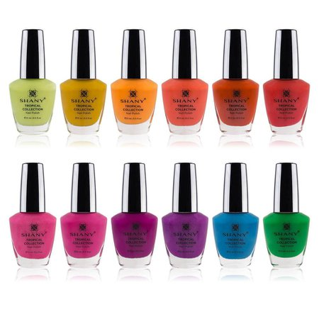 SHANY Nail Polish Set - Semi glossy and Shimmery