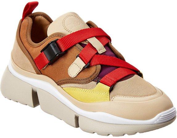 Sonnie Suede & Mesh Low-Top Sneaker