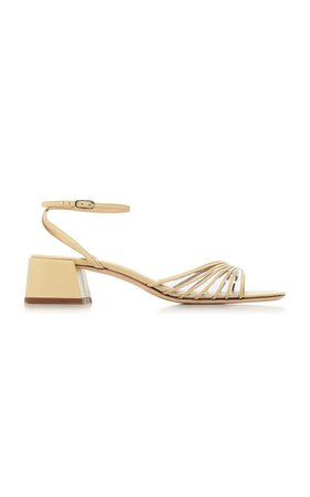 Anna Leather and PVC Sandals by BY FAR | Moda Operandi