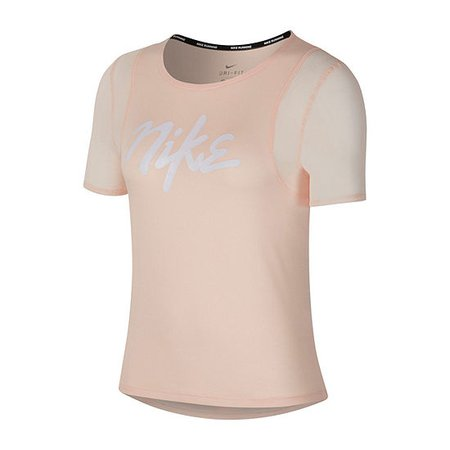 Nike Womens Crew Neck Short Sleeve Graphic T-Shirt, Color: Bleached Coral - JCPenney