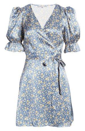 Reformation Giorgia Puff Sleeve Silk Minidress | Nordstrom