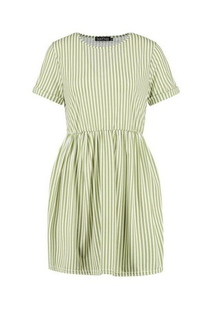 Gathered Waist Smock Dress | Boohoo