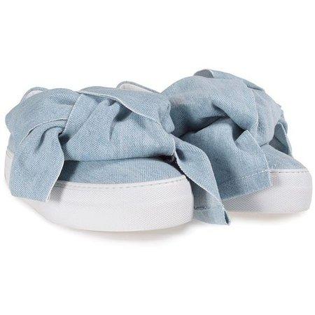 Joshua Sanders Denimt Bow Slip-on Sneakers ($325)