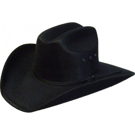 """Patch"" Adult Black Faux Felt Cowboy Hat"