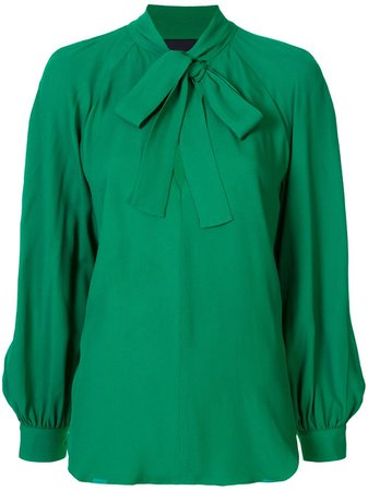 Green Ginger & Smart pussy bow blouse W20129 - Farfetch