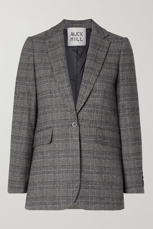 Ryder Prince Of Wales Checked Woven Blazer - Black