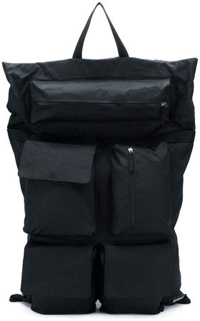 oversized black backpack
