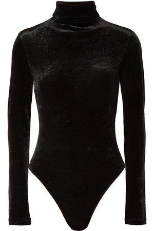 Unravel Project | Stretch-velour turtleneck bodysuit | NET-A-PORTER.COM