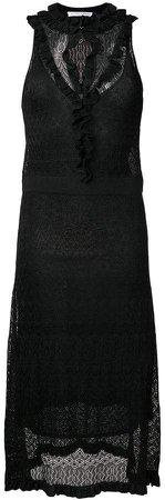 knitted flared midi dress