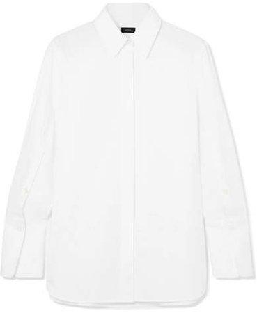 Mason Cotton-poplin Shirt - White