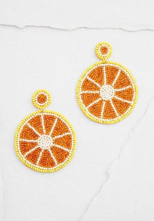 Be My Zest Lemon Beaded Earrings Yellow | ModCloth