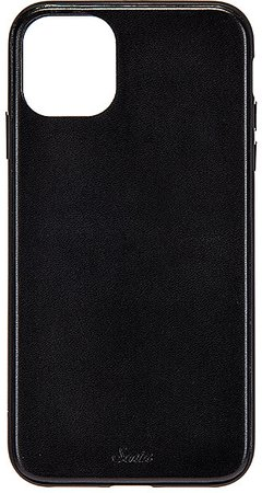 Black Leather Wallet 11 Pro Case