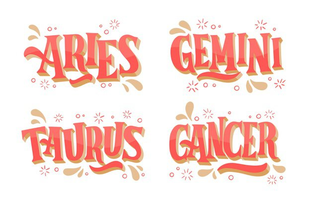 Free Vector | Hand drawn zodiac sign pack