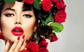 face models with flowers - Google Search