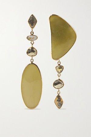 Gold 14-karat gold multi-stone earrings | Melissa Joy Manning | NET-A-PORTER