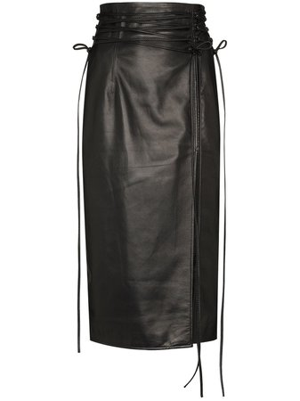 16Arlington tie-fastening Detail Pencil Skirt - Farfetch