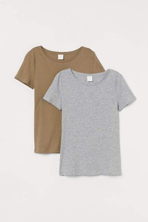2-pack Cotton T-shirts - Green