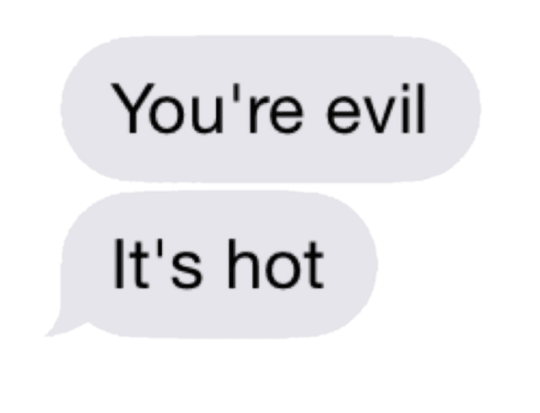 your evil text