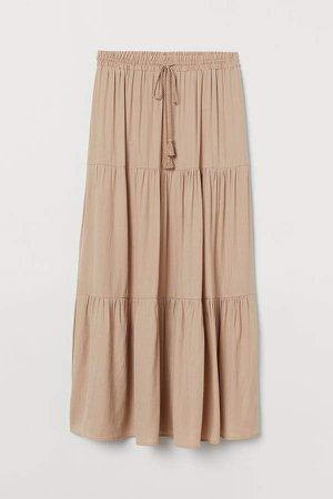 Long Skirt - Beige