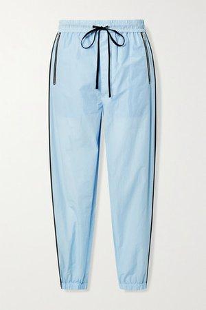 Cotton-blend Jersey Track Pants - Sky blue
