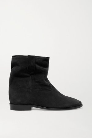 Crisi Suede Ankle Boots - Black