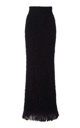 Dolce & Gabbana Fringed Knit Skirt