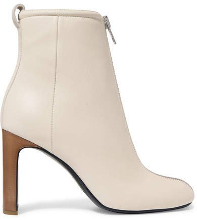 Ellis Leather Ankle Boots - White