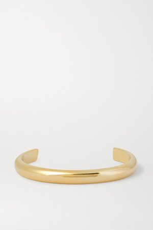 Jennifer Fisher | Half Round gold-plated cuff | NET-A-PORTER.COM
